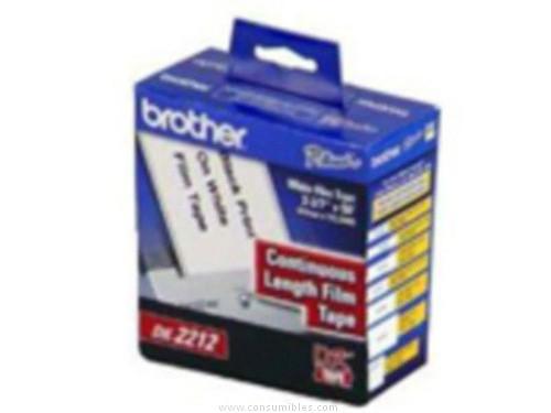 BROTHER ETIQUETA ROLLO 62 MMX15M NEGRO/BLANCO DK22212