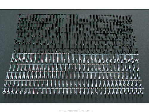 Encuadernacion GBC CANUTILLOS WIRO CAJA 100 UD BLANCO 14,3 MM METALICO 34 ANILLAS RG810970