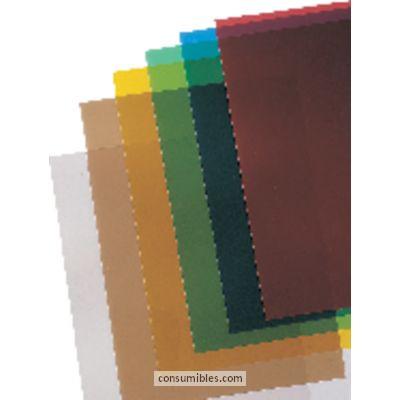Cubiertas GBC CUBIERTAS ENCUADERNACIÓN IBICLEAR CAJA 100 UD ROJO A4 PVC TRANSPARENTE CE011830E