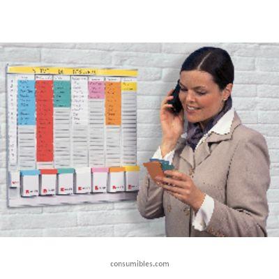 NOBO KIT OFFICE PLANNER 48X48 CM INDICE 2 24 RANURAS 2911080