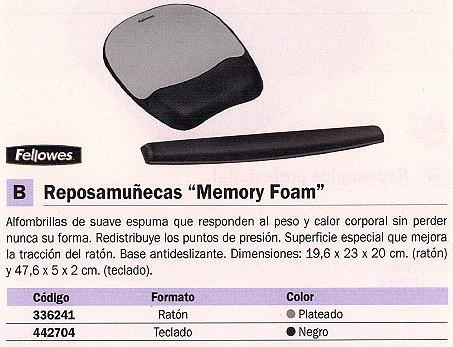 FELLOWES ALFOMBRILLA DE RATÓN CON REPOSAMUÑECAS GRIS ESPUMA 9175801