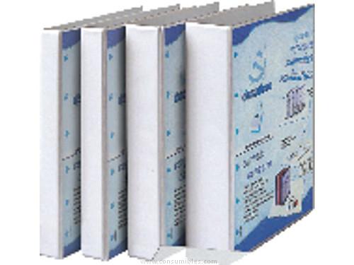 Carpetas de anillas ENVASE DE 10 UNIDADESEXACOMPTA CARPETA ANILLAS KREA COVER A4 4-16 MM BLANCO 51840WODSE