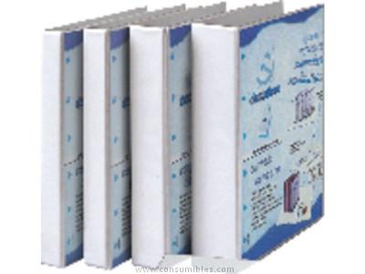 ENVASE DE 10 UNIDADES EXACOMPTA CARPETA ANILLAS KREA COVER A4 4-25 MM AZUL PERSONALIZABLE 51846BE
