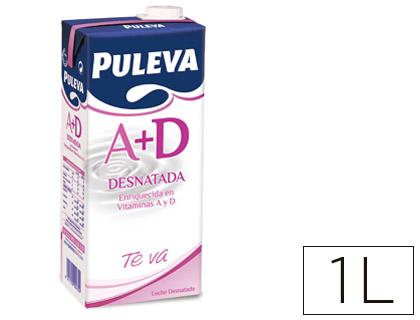 Bebidas LECHE DESNATADA PULEVA BRIK DE 1 LITRO