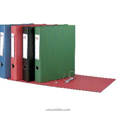 4 anillas ENVASE DE 2 UNIDADES CARPETA ANILLAS EXTRA PARDO A4 4-40 MM NEGRO PVC 2484 N