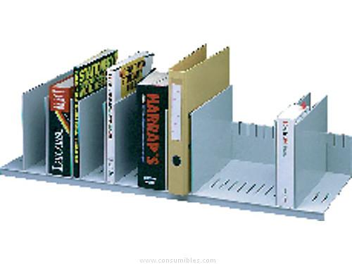 PAPERFLOW CLASIFICADOR 10 CASILLAS MOVILES REGULABLE 21X80,2X27,5CM GRIS 4932.02