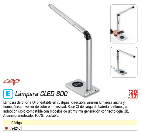 CEP LÁMPARA QI LED ORIENTABLE 200800961