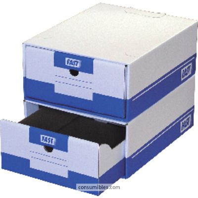 Modulos de archivo CAJON ARCHIVO MODULAR TIROFAST 280X365X140 A4 3 PESTAÑAS DE ACOPLAMIENTO CARTON 4950X10