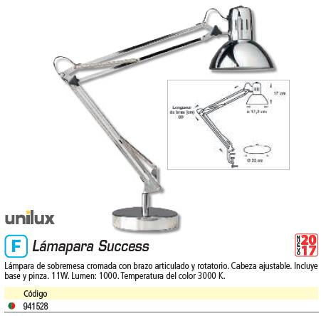 UNILUX LÁMPARA SUCCESS 80 ULX LED CHROM B+C EU 400064645