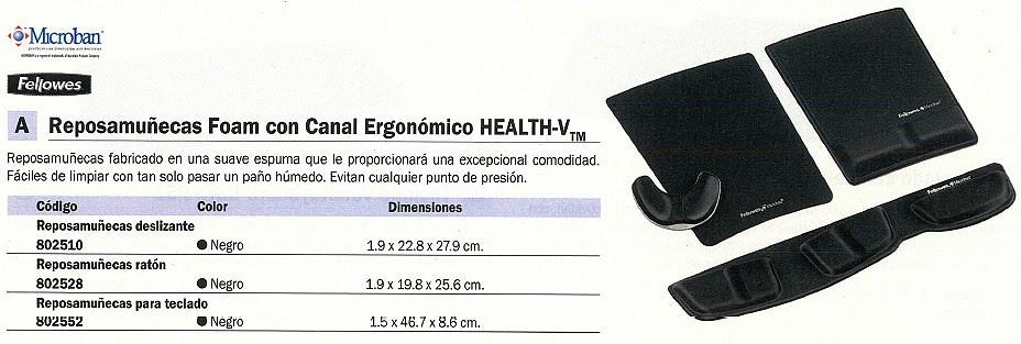 FELLOWES ALFOMBRILLA DE RATÓN CON REPOSAMUÑECAS NEGRO ESPUMA 9181201