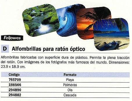 FELLOWES ALFOMBRILLA PARA RATÓN ANTIDESLIZANTE CASCADA 58712