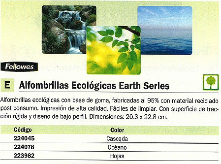 FELLOWES ALFOMBRILLA RATON CASCADA 20,3X22,8 ECOLOGICA 5909701