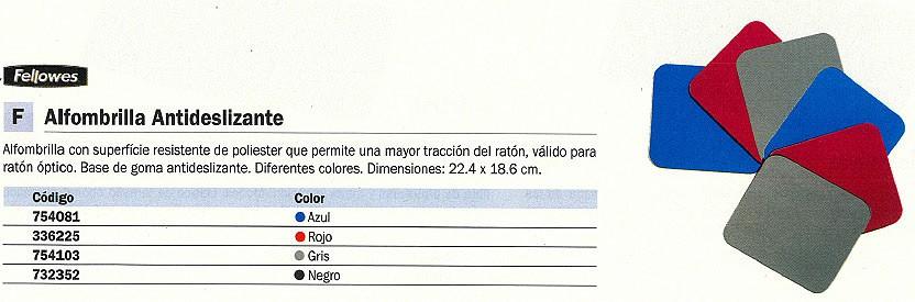 FELLOWES ALFOMBRILLA PARA RATÓN ANTIDESLIZANTE GRIS 29702