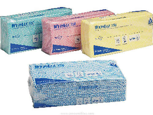 estropajos y bayetas KIMBERLY CLARK BAYETAS MULTIUSOS WYPALL X50 50 UD 250X420 AZUL DESECHABLES 7441