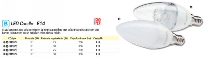 VERBATIM LED CANDLE E14 3.1W EQUIVALE A 35W - 2700K 350LM CLEAR 52638