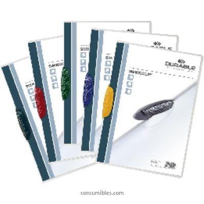 Dossiers con clip ENVASE DE 25 UNIDADES DURABLE DOSSIERS CLIP SWINGCLIP CAPACIDAD 30 HOJAS A4 NEGRO POLIPROPILENO 2260-01