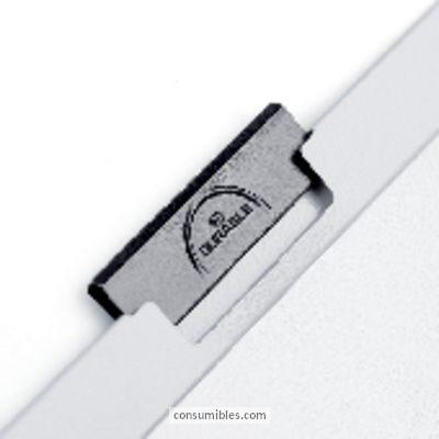 Dossiers con clip ENVASE DE 25 UNIDADES DURABLE DOSSIERS CLIP DURACLIP CAPACIDAD 30 HOJAS A4 AZUL CLARO PVC 2200-06
