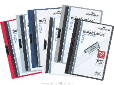 ENVASE DE 25 UNIDADES DURABLE DOSSIERS CLIP DURACLIP CAPACIDAD 60 HOJAS A4 NEGRO PVC 2209-01