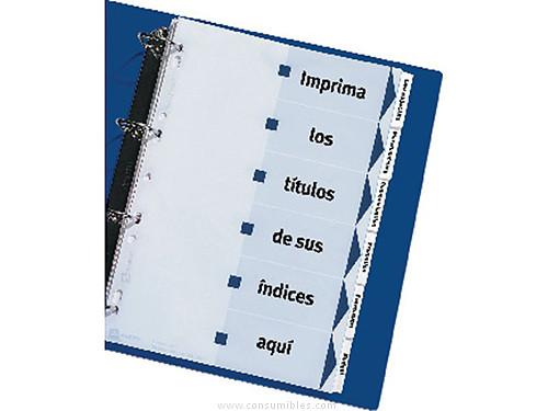 AVERY SEPARADORES 6 POSICIONES A4 PERFORADO IMPRIMIBLES 01638061