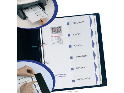 AVERY SEPARADORES INDEX MAKER 12 POSICIONES A4 MULTITALADRO IMPRIMIBLES 01640061