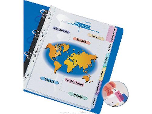 ENVASE DE 10 UNIDADES AVERY FUNDA CON PESTAÑAS PERSONALIZABLES A4 12 POSICIONES 0562450