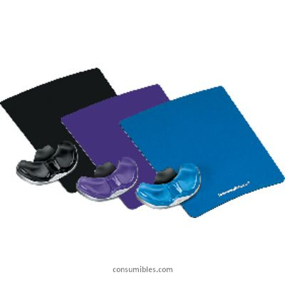 FELLOWES ALFOMBRILLA DE RATÓN CON REPOSAMUÑECAS HEALTH V AZUL GEL 9182201