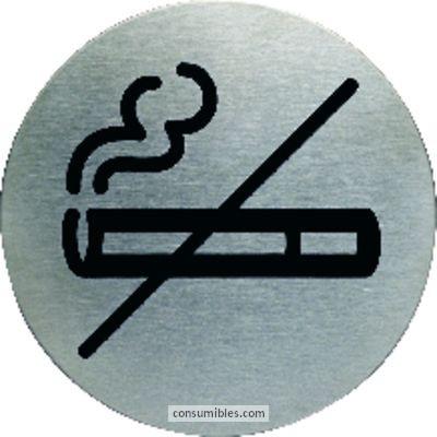 Paneles de informacion DURABLE PICTOGRAMA NO FUMADORES 83 MM ACERO INOX 4911-23