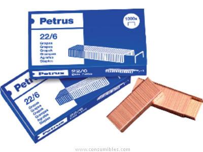 Grapas PETRUS GRAPAS 1000 UD 26/6 COBREADA 55710