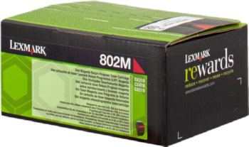 CARTUCHO DE TONER MAGENTA RETORNABLE LEXMARK 802M