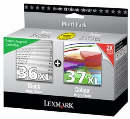 CARTUCHO DE TINTA NEGRO-COLOR PACK 2 LEXMARK 80D2978