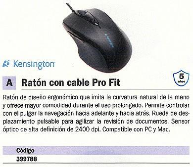 KENSINGTON RATÓN PRO FIT OPTICO NEGRO MEDIANO K72369EU