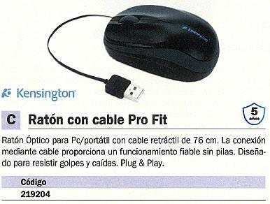 KENSINGTON RATÓN PRO FIT OPTICO NEGRO GRANDE K72339EU