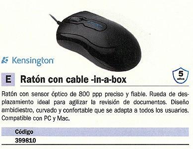 KENSINGTON RATÓN IN-A-BOX OPTICO NEGRO GRANDE K72356EU