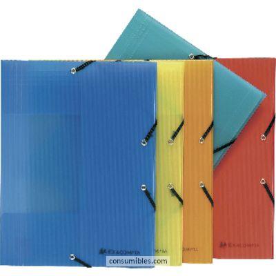 Comprar Carpetas con gomas polipropileno 810002(1/25) de Exacompta online.