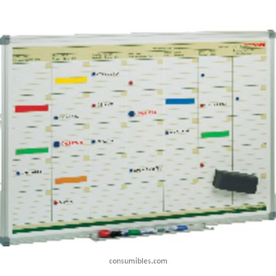 Plannings mensuales FAIBO PLANNING MAGNETICO MENSUAL 60X90 CM ROTULADORES PIZARRA BLANCA PLM
