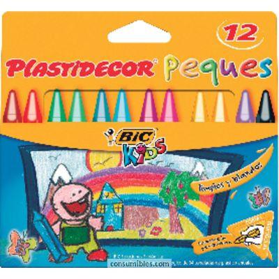 BIC PLASTIDECOR ESTUCHE 12 UD COLORES SURTIDOS TRIANGULARES 875774