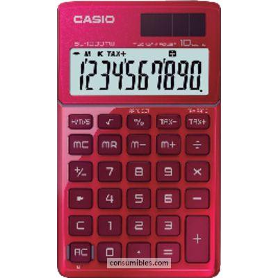 Calculadoras de bolsillo CASIO CALCULADORAS 10 DIGITOS SOLAR Y PILA SL-1000TW RD