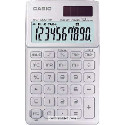 Calculadoras de bolsillo CASIO CALCULADORA SL-1000 TW 10 DIGITOS SOLAR Y PILA SL-1000TW WE