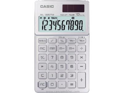 CASIO CALCULADORA SL 1000 TW 10 DIGITOS SOLAR Y PILA SL 1000TW WE
