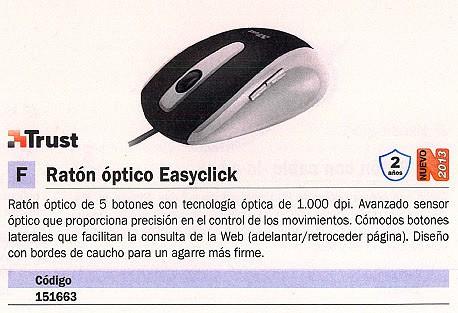 TRUST RATÓN EASYCLICK OPTICO NEGRO-PLATA MEDIANO 16535