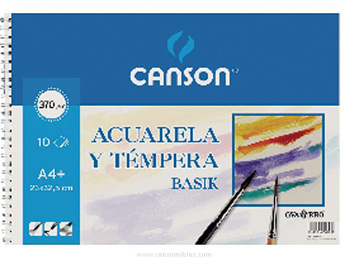 ENVASE DE 10 UNIDADES CANSON PAPEL DIBUJO 10 HOJAS A4 370 GR 200400698