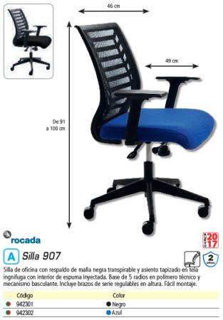 ROCADA SILLA OFICINA 907 NEGRO 907/4