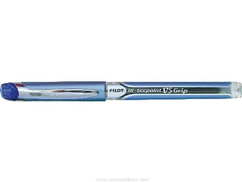 ENVASE DE 12 UNIDADES PILOT ROLLER V5 GRIP AZUL TRAZO 0,3 MM TINTA LIQUIDA NV5GA