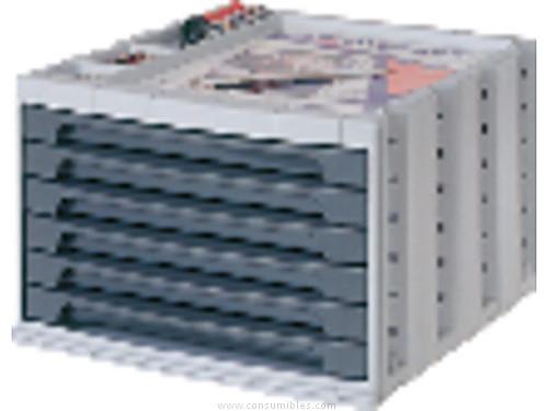 ARCHIVO 2000 BUCS 6 CAJONES 370X305X215 GRIS 6006PGS
