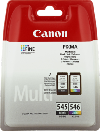 MULTIPACK NEGRO - VARIOS COLORES CANON PG-545+CL-546