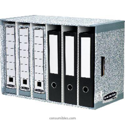 Archivo modular en carton ENVASE DE 5 UNIDADES FELLOWES CAJON ARCHIVADORES 580X290X380 COMPARTIMENTO 95X375X285 6 COMPARTIMENTOS CARTON 01880EU