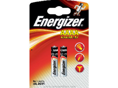 ENERGIZER PILAS ALCALINAS ULTRA + PACK 2 UD AAAA LR61 633477