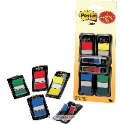 POST IT INDICES ADHESIVOS PACK 4UDX50 MEDIANOS + 2 FLECHAS REGALO 70005056984