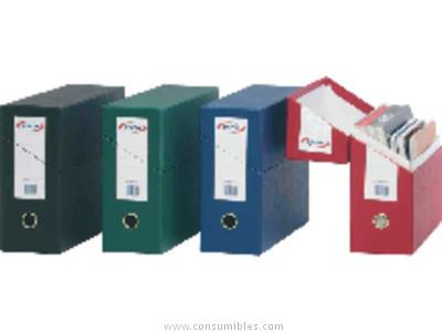PARDO CAJA TRANSFERENCIA 270 X 390 X 110 MM AZUL ARCHIVADOR APAISADO DOBLE REFUERZO 245703