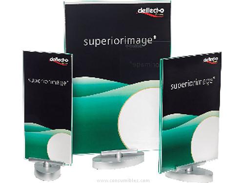 DEFLECTO EXPOSITOR GIRATORIO SUPERIOR IMAGE 380X230X265 MM BASE METALIZADA 691101